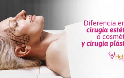 Diferencia entre cirugía estética o cosmética y cirugía plástica